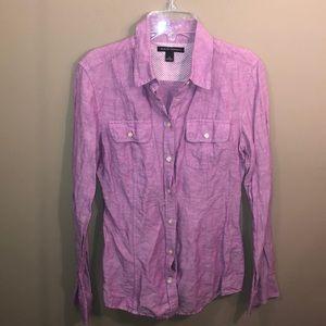 Banana Republic Tops - banana republic purple button down shirt